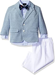 Nautica Boys' Pique Knit Duo Set with Bow Tie