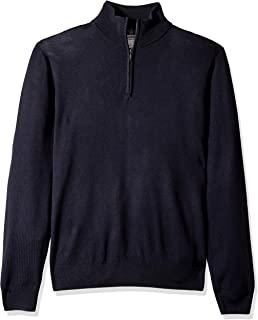Amazon Brand - Goodthreads Men's Lightweight Merino Wool Quarter Zip Sweater