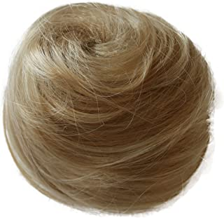 PRETTYSHOP Scrunchie Bun Updo Hairpiece Ponytail Extensions Wavy Variation((Bleach Blonde 25T613 DC8)