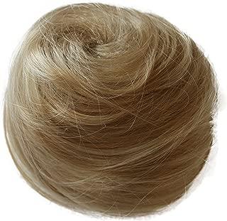 PRETTYSHOP Scrunchie Bun Updo Hairpiece Ponytail Extensions Wavy Variation((Bleach Blonde 25T613 DC8)