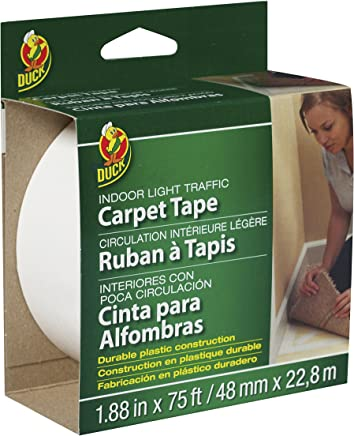 Duck Brand 394621 Light Traffic Carpet Tape, 1.88-Inch x 75 Feet, Single