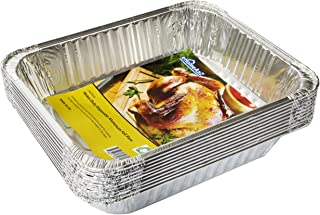 eHomeA2Z Aluminum Pans Half Size Disposable 9