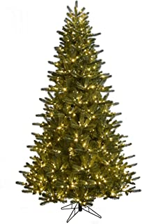 Albert + Hazel 7.5 Foot Natural-Like PE Blend Full Body Grand Fir Instant Connect and 800 Color Change LED Reli-A-Lites and 8 Function Remote Control Artifical Tree, Green