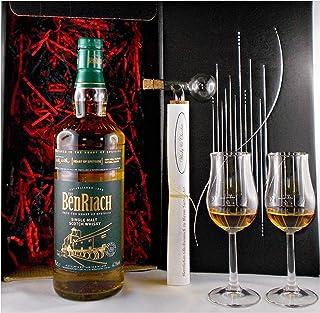 Geschenk BenRiach Heart of Speyside Whisky  Portionierer  2 Bugatti Gläser