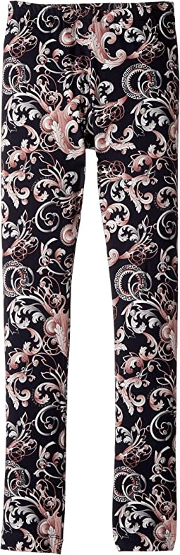 Versace Kids - All Over Barocco Print Leggings (Big Kids)