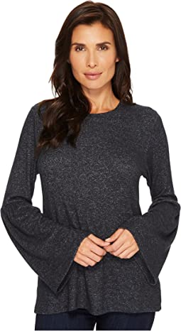 B Collection by Bobeau - Flare Sleeve Cozy Tee