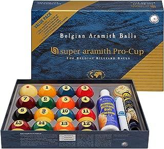 Aramith Super Pro-Cup Value Pack (Super Pro Billiard Pool Ball Set 2 1/4