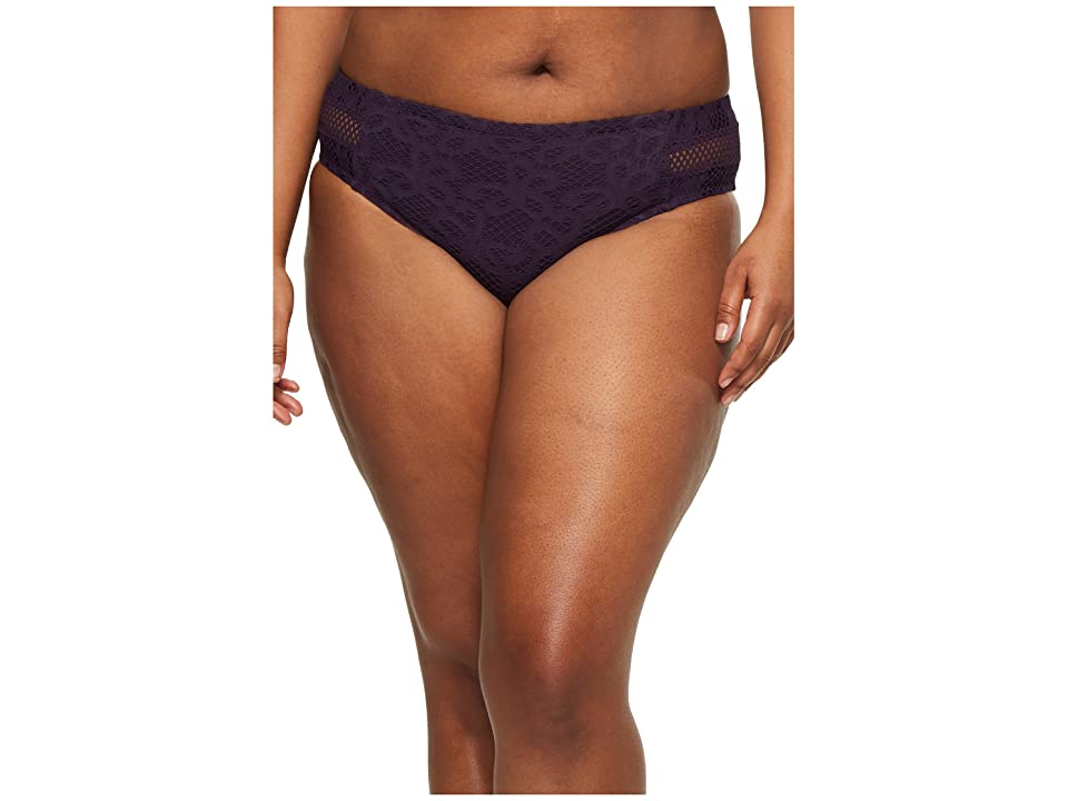 BECCA by Rebecca Virtue Plus Size Captured Hipster Pant Bottoms (Plum) Women