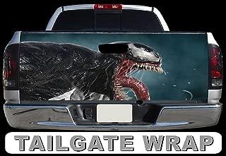 Tailgate Wrap T254 Venom Vinyl Graphic Decal Sticker F150 F250 F350 Ram Silverado Sierra Tundra Ranger Frontier Titan Tacoma 1500 2500 3500 Bed Cover
