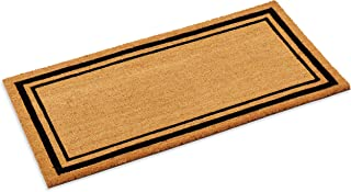 Kempf New Coco Coir Doormat, Black Double Picture Frame Border with Heavy Vinyl Backing, in Various Sizes. (24