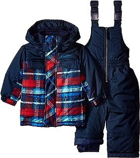 Rugged Bear Baby Boys' Athletic/Outdoor Plaid Snowsuit