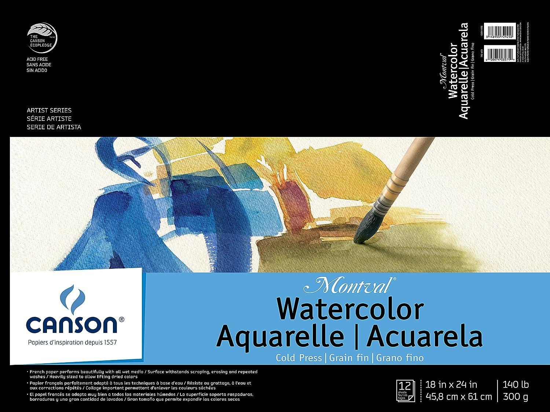 Canson Montval Montval Montval WaterFarbe Pad, 0, 18 x24  B00F3D8GXM  | Vogue  4379f8