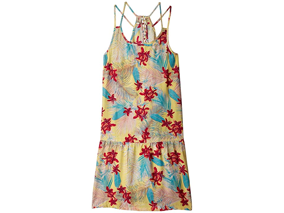 Roxy Kids Moments of Time Strappy Dress (Big Kids) (Sunshine/Tiare Flowers) Girl