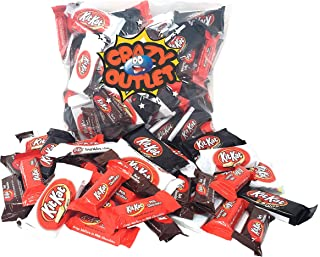 CrazyOutlet Pack - Kit Kat Crisp Wafers Assorted White, Milk, Dark Chocolate, Miniatures and Snack Size Bars, Bulk Pack, 3 Lbs