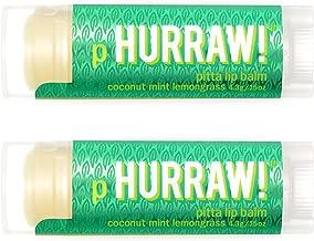 Hurraw Pitta (Coconut, Mint, Lemongrass) Lip Balm, 2 Pack