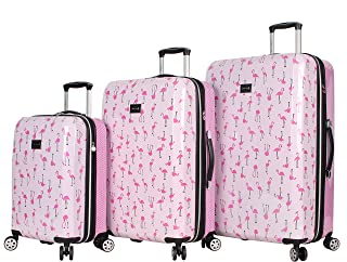 Luggage Hardside 3 Piece Set Suitcase With Spinner Wheels (20