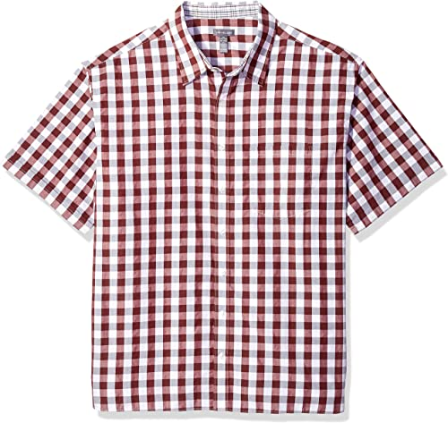 Van Heusen Hommes's Taille Big and Tall Never Tuck manche courte Button Down Shirt, Bright blanc, X-grand