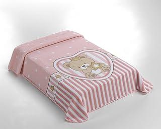 85/% polyacrylique // 15/% Polyester 80 x 110 cm Rose Mantas Blankets Belplast Couverture pour b/éb/é 80 x 110 cm