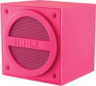 iHome IBT16PPC Bluetooth Rechargeable Mini Speaker Cube in Rubberized Finish - Pink