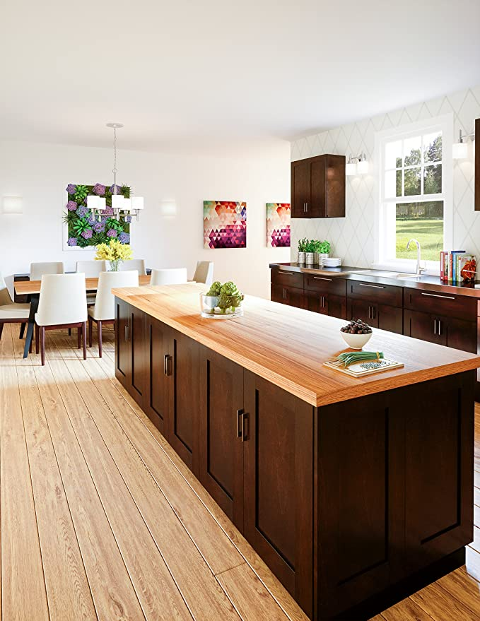 Design House Kitchen Cabinets Wall 36 In Espresso Home Kitchen Amazon Com