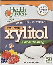 Health Garden Birch Xylitol Sweetener, (Not from Corn (50 Packets x 3)