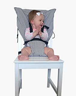 Quick, Portable, Easy Travel Baby Chair Harness. Adjustable, Safe, Washable, Comfortable, Secure, Best Infant high Chair.