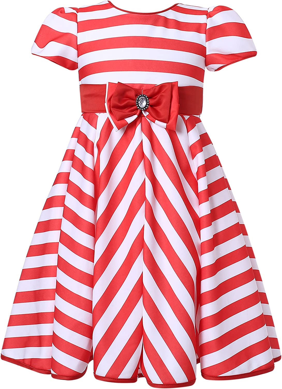 Richie House Girls' Columbus Mall Striped Party Max 89% OFF Size 3-12Y RH2226 Dress