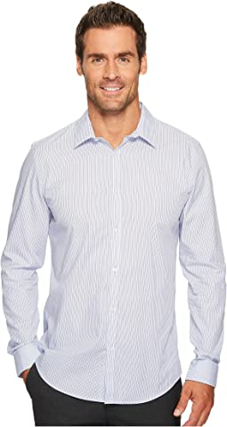 Calvin Klein - Slim Fit Infinite Cool Poplin Variegated Stripe Button Down Shirt