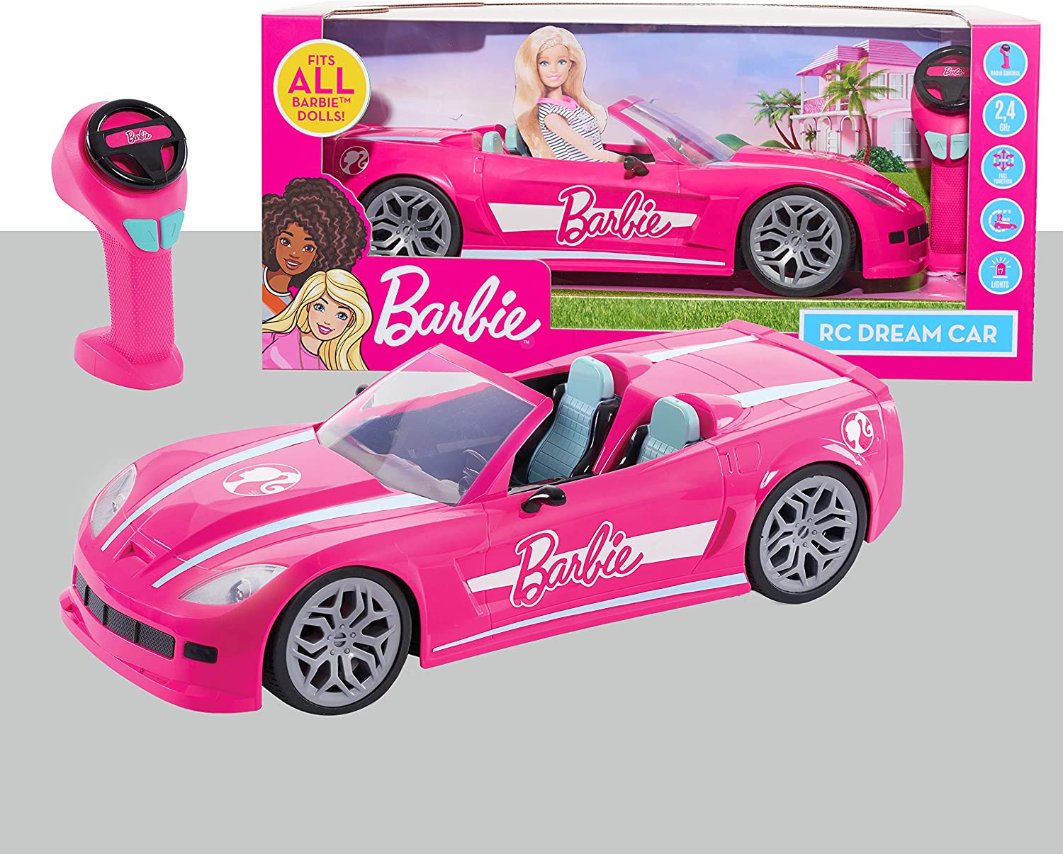 Barbie RC We quality assurance OFFer at cheap prices Convertible Car Pink