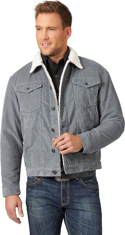 Wrangler Men's Western Sherpa Lined Trucker Jacket