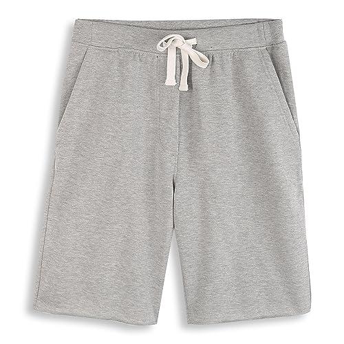 08222f7a HARBETH Men's Casual Soft Cotton Elastic Fleece Jogger Gym Active Pocket  Shorts