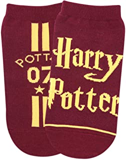 Balenzia x Harry Potter Potter 07 & Harry Potter Logo Lowcut Socks for Women (Pack of 2)- Maroon