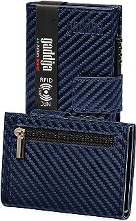 Porta Carte di Credito Portafoglio Uomo e Donna gaddga Porta Tessere Documenti Zip Regalo Blocco RFID/NFC Schermato Pelle ...