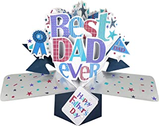 Best Dad Happy Father's Day Pop-Up Greeting Card Second Nature 3D Pop Up Cards