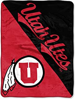 NCAA Utah Utes 46-Inch-by-60-Inch Micro-Raschel Blanket Grunge Design