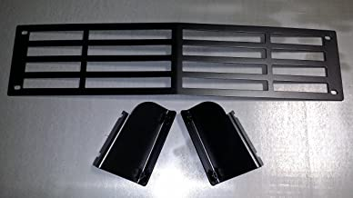 Mountains2Metal Stainless Steel Powder Coated Black Bumper Grille Insert Compatible with 2015-2019 Chevy Silverado 2500 3500 HD M2M #400-10-1