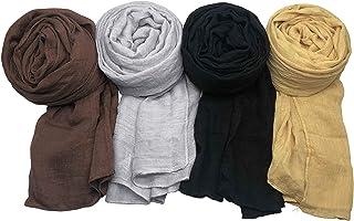 WANBAO 4 Pcs Women Scarves Shawl Keep Warm Scarf Wrap Scarves Fashion Shawls.