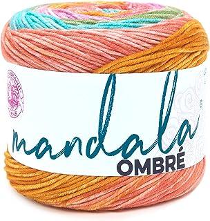 Lion Brand Yarn Company 551-213 Mandala Ombre Yarn, Felicity, One Skein