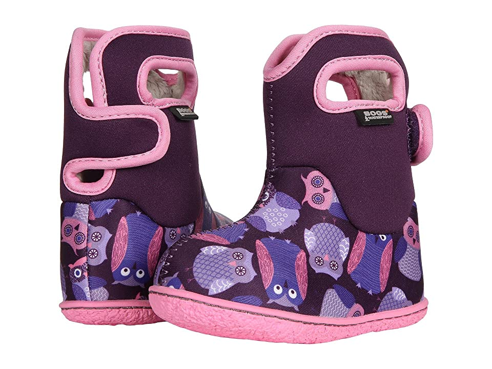 Bogs Kids Baby Bogs Owls (Toddler) (Purple Multi) Girls Shoes