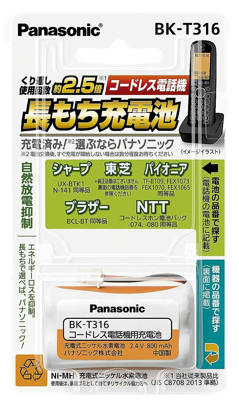 下にカッターブーストパナソニック 充電式ニッケル水素電池 コードレス電話機用 BK-T316