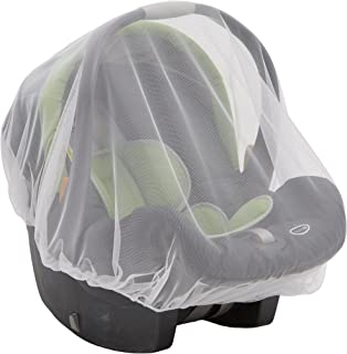 Mosquito Net for Infant Car Seats, Infant Strollers and Bassinets | Breathable with Elastic Netting for Easy fit | Delta Children | White