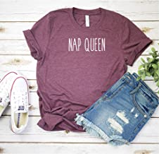 Nap Queen T shirt - Womens Unisex T shirt - Heather Maroon Colored T-shirt - Graphic Tee - Soft Tee