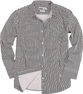 Womens Basic Tailored Long Sleeve Cotton Button Down Work Shirt