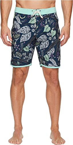 Night Crawler Four-Way Stretch Boardshorts 18.5""