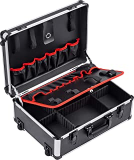Meister Tool Trolley Empty - 460 x 350 x 190 mm - With Wheels - Individual Compartment Division - 15 Tool Pockets - With R...