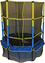 """Upper Bounce 55""""Kiddy Trampoline& Enclosure Set–Drop-Click Easy AssemblyRound-OutdoorTrampoline forKids,Supports..."""