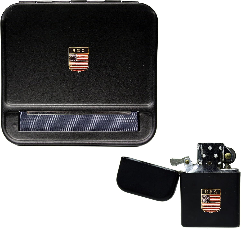 USA Stopfgerät und Stormproof Benzin Feuerzeug B07DWZB5SV
