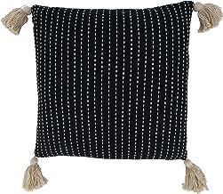 غطاء وسادة مزخرف من مجموعة كيما من سارو لايف ستايل 45.72 سم × 45.72 سم، أسود
