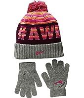 Nike Kids Attitude Knit Beanie & Gloves Set (Little Kids/Big Kids)