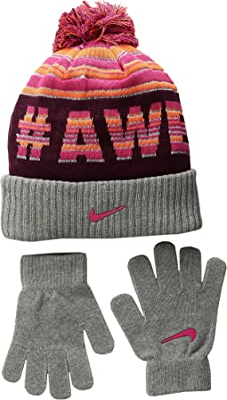 Attitude Knit Beanie & Gloves Set (Little Kids/Big Kids)